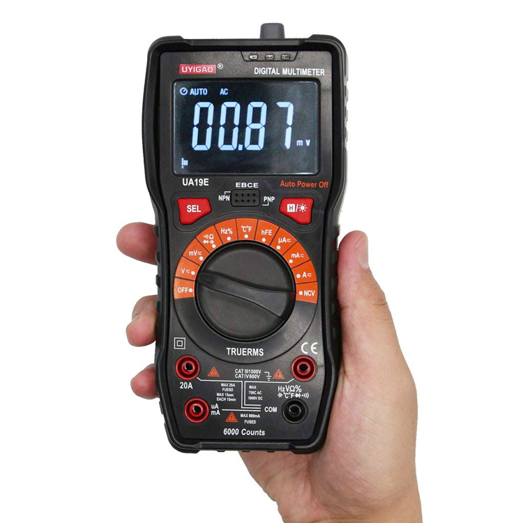 6000 digits digital trms multimeter with analog bar display for Amazon Ebay Wish hot sale UA19E